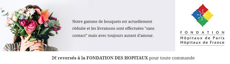 2€ reversés aux hôpitaux de France