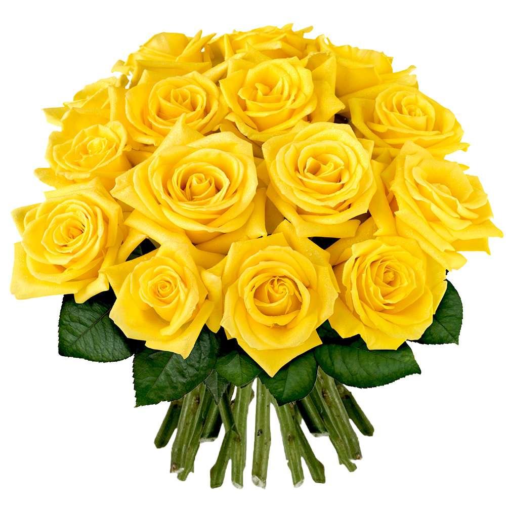 Bouquet de 30 roses jaunes livraison en express florajet for Bouquet de fleurs jaunes
