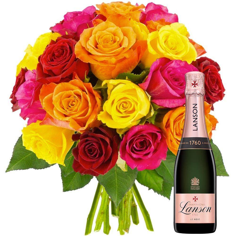 Cadeaux Insolites 20 Roses Multicolores 1 2 Lanson Rose