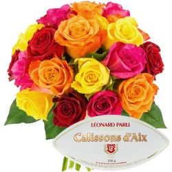 20 ROSES + CALISSONS 230GR