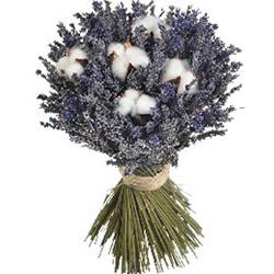 Bouquet Rond Fleurs De Coton Lavandes Livraison Express Florajet