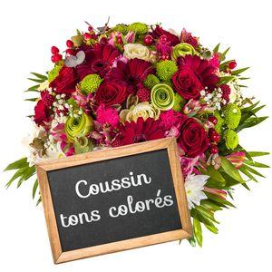 COUSSIN DE DEUIL COLORE AU CHOIX DU FLEURISTE