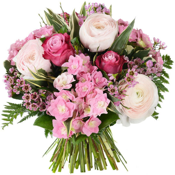 Bouquet rond ROSE BOHEME