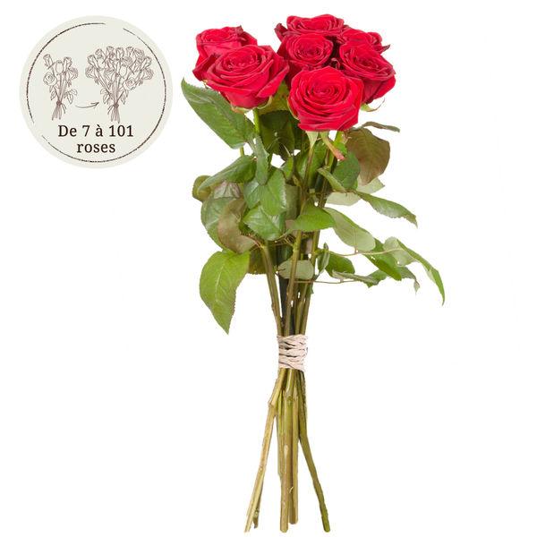 Bouquet de roses 12 GRANDES ROSES ROUGES