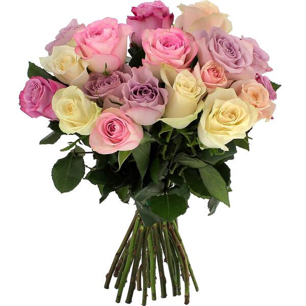Bouquet de roses 20 ROSES PASTEL