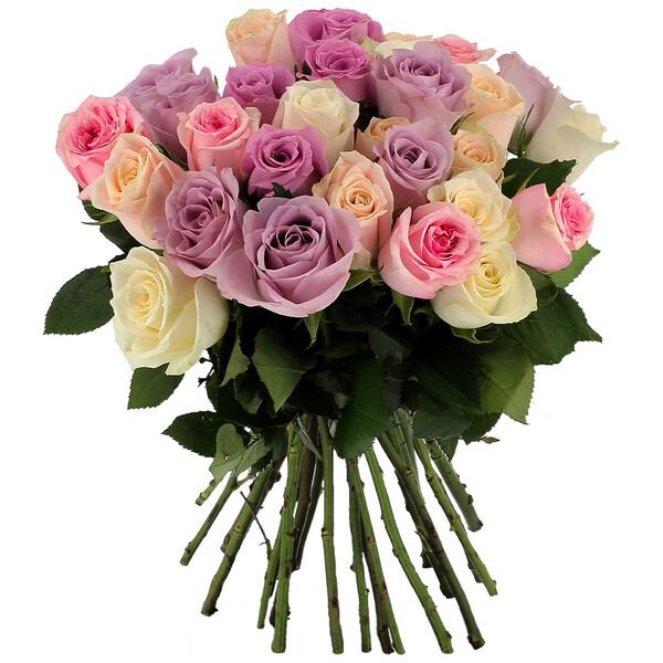 Bouquet de roses 30 ROSES PASTEL