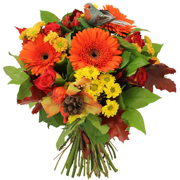 Bouquet rond CHATAIGNE