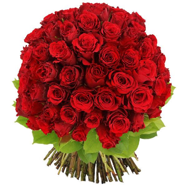 Bouquet de roses BOUQUET DE 80 ROSES ROUGES