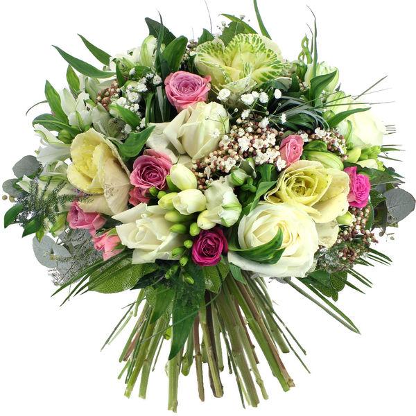 Bouquet rond PERLE FINE