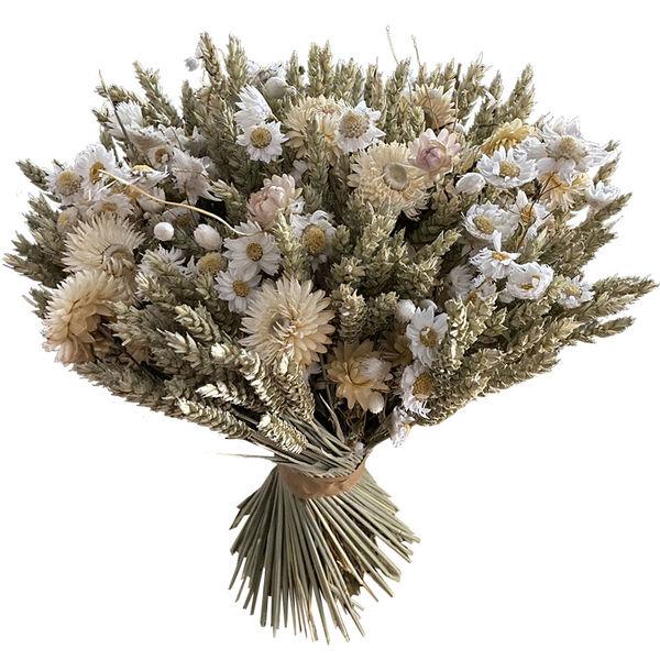 Bouquet rond KIT DE FLEURS SECHEES BLANCHES