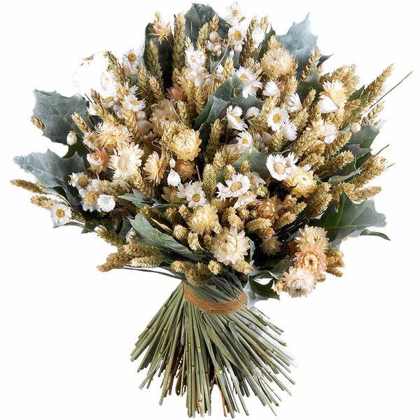 Bouquet rond BOUQUET DE FLEURS SECHEES CREME XL