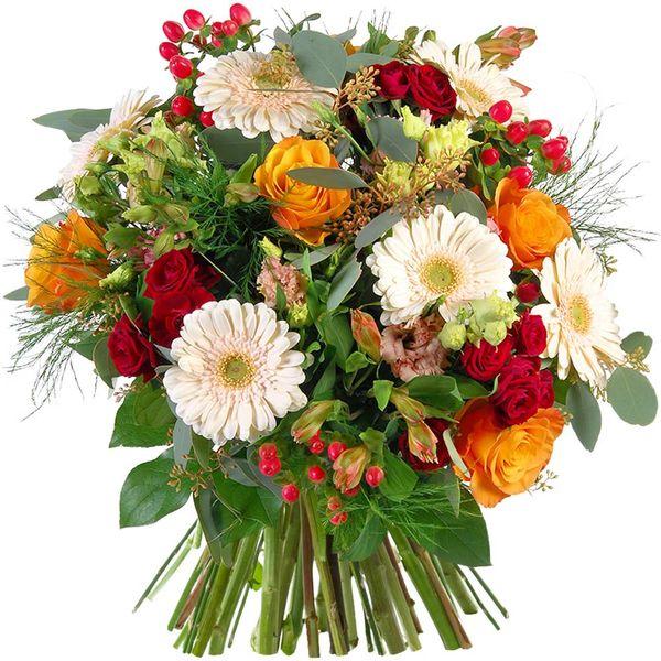 Bouquet rond ABRICOTINE