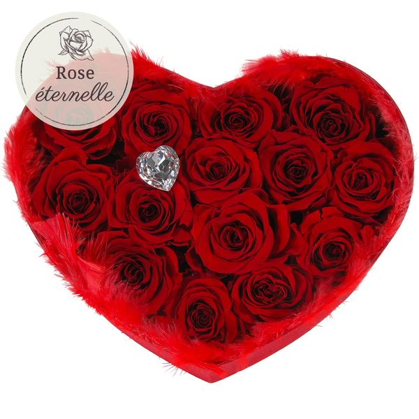Les Roses COEUR DE ROSES ETERNELLES ROUGES
