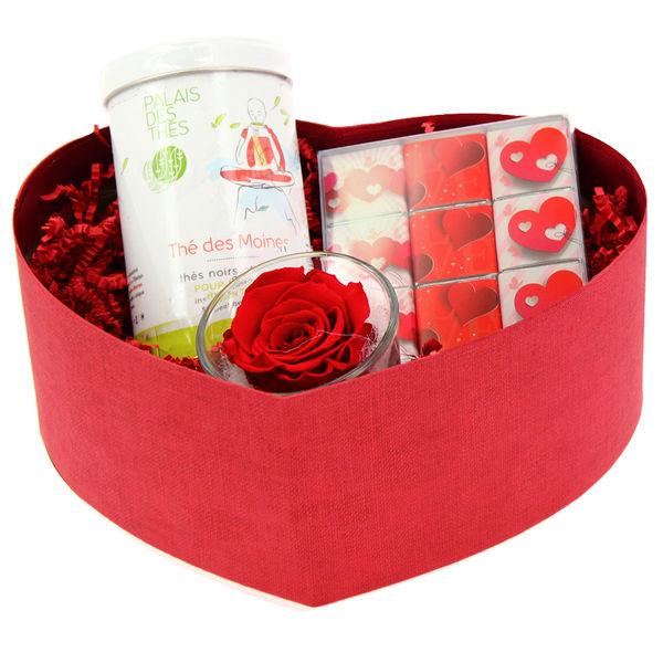 Cadeaux Gourmands ROSE ETERNELLE ROUGE + THE MOINES + NAPOLITAINS