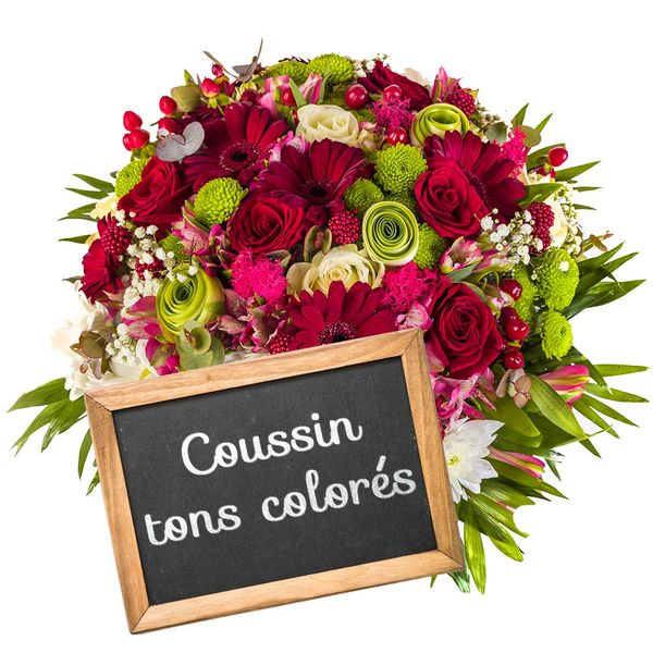 Coussin COUSSIN DE DEUIL COLORE AU CHOIX DU FLEURISTE
