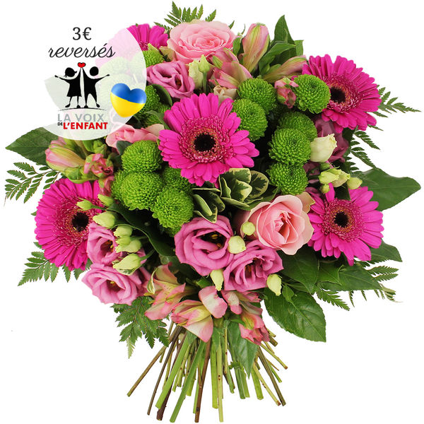 Bouquet rond BOUQUET SOLIDAIRE