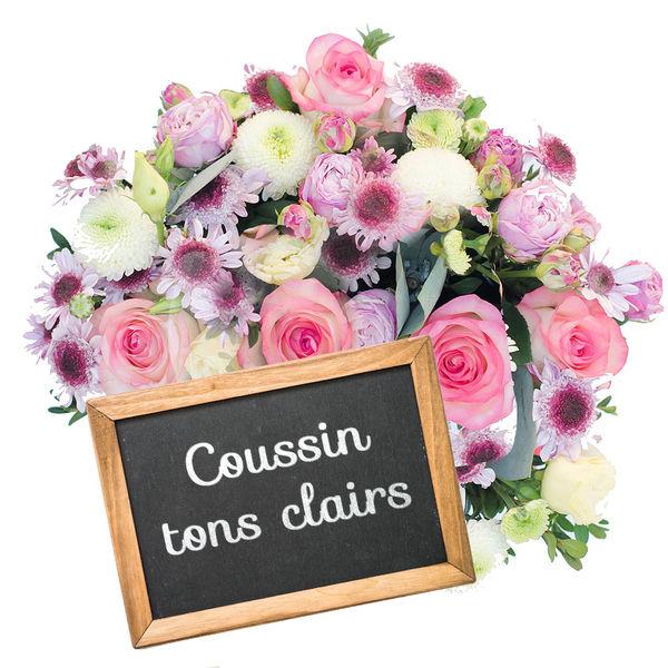 Coussin COUSSIN DE DEUIL TONS CLAIRS AU CHOIX DU FLEURISTE
