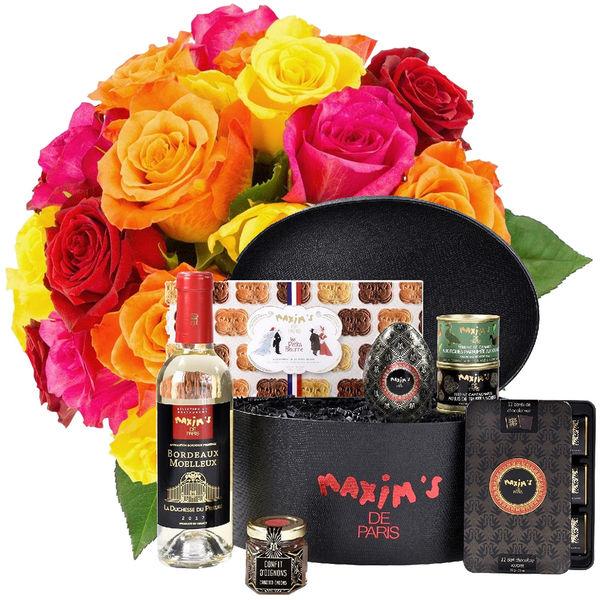 Cadeaux Gourmands 20 ROSES MIX + COFFRET BLACK IS BEAUTIFUL