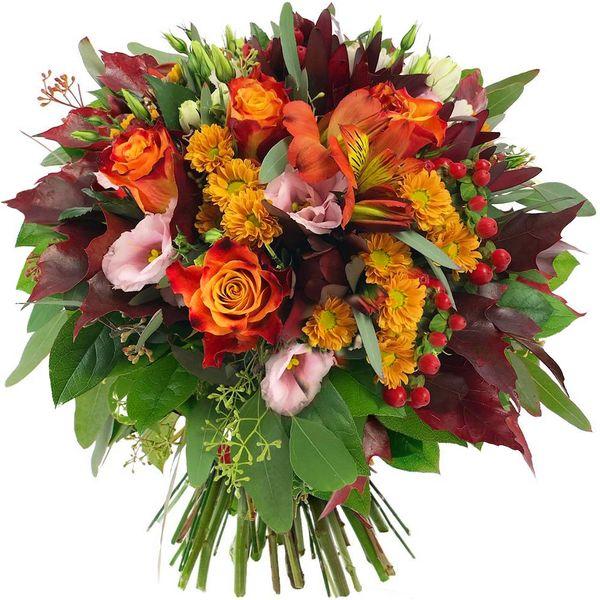 Bouquet rond FAUVE