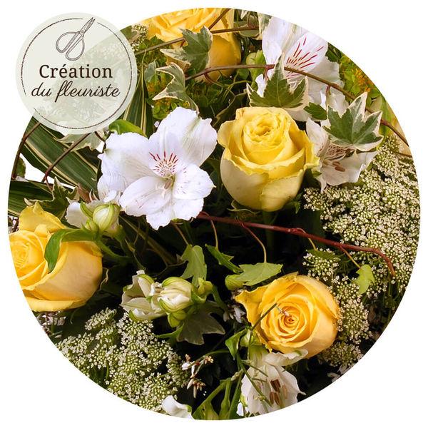 Bouquet rond CREATION DU FLEURISTE FETE DES GRANDS-PERES