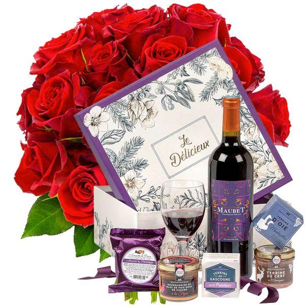 Cadeaux Gourmands 20 ROSES ROUGES + LE DELICIEUX