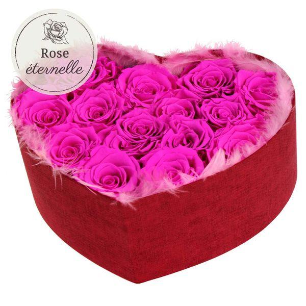 Les Roses COEUR DE ROSES ETERNELLES ROSES