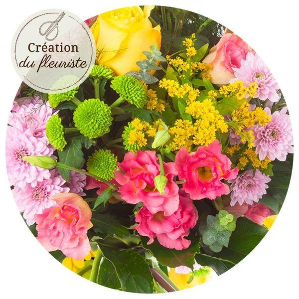 Bouquet rond CREATION DU FLEURISTE ANNIVERSAIRE
