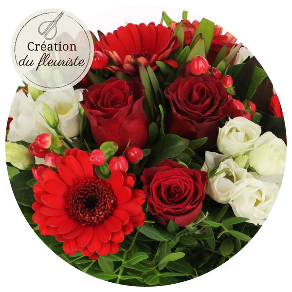 Bouquet rond CREATION DU FLEURISTE AMOUR