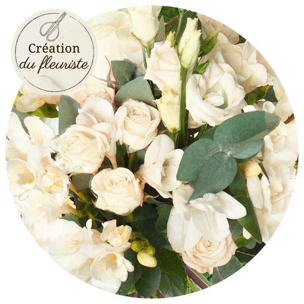Bouquet rond CREATION DU FLEURISTE BLANCHE