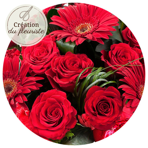 Bouquet rond CREATION DU FLEURISTE ROUGE