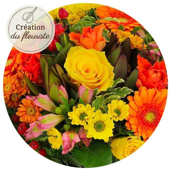 Bouquet rond CREATION DU FLEURISTE MULTICOLORE