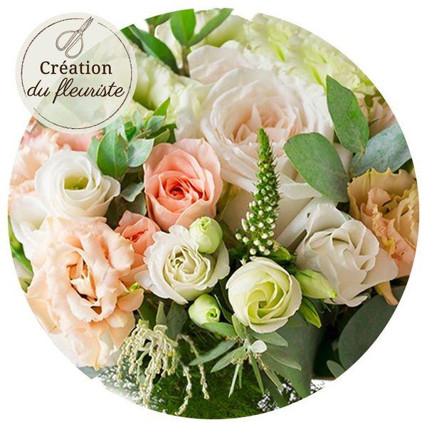 Bouquet rond CREATION DU FLEURISTE BAPTEME