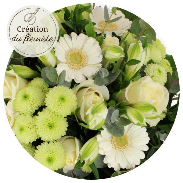 Bouquet rond CREATION DU FLEURISTE NAISSANCE