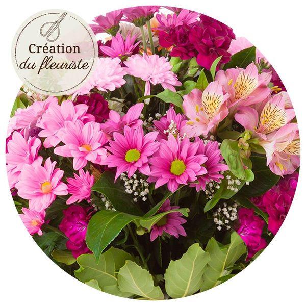 Bouquet rond CREATION DU FLEURISTE ROSE