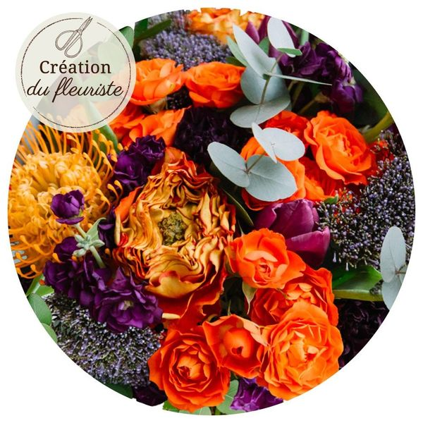 Bouquet rond CREATION DU FLEURISTE HALLOWEEN