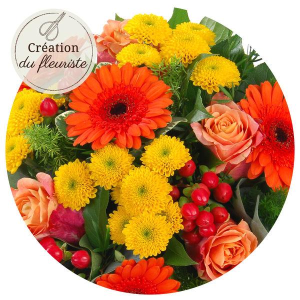 Bouquet rond CREATION DU FLEURISTE AUTOMNE