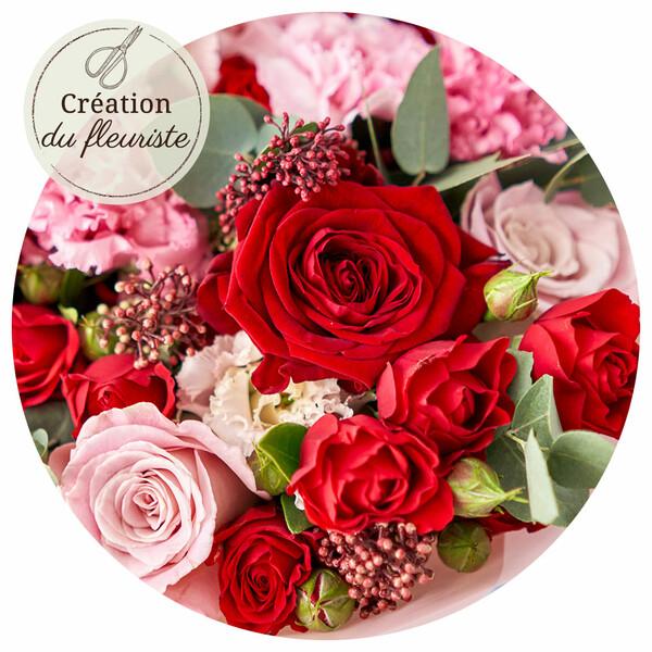 Bouquet rond CREATION DU FLEURISTE SAINT VALENTIN