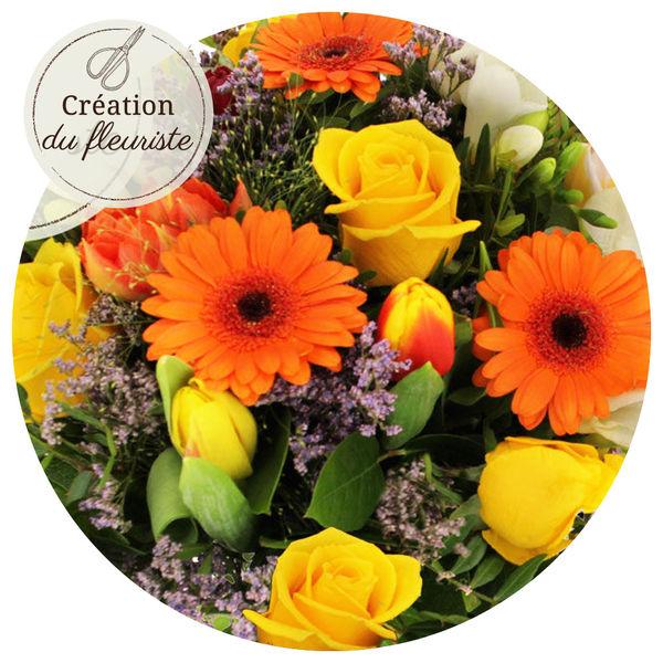 Bouquet rond CREATION PRINTANIERE DU FLEURISTE