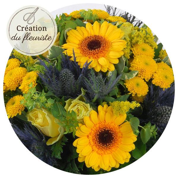 Bouquet rond CREATION DU FLEURISTE FETE DES BELLES MERES