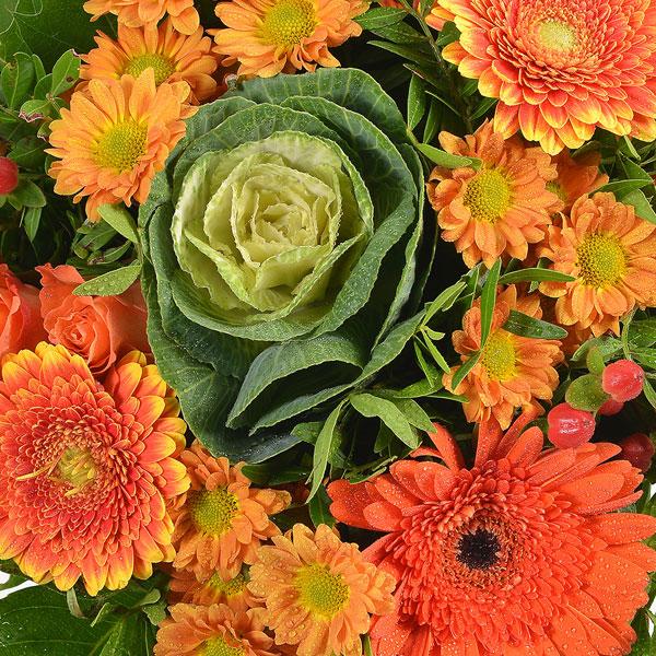 Bouquet rond OCRE