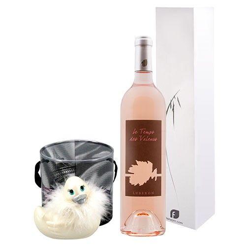 Cadeaux Sexy COFFRET VIN ROSE + CANARD