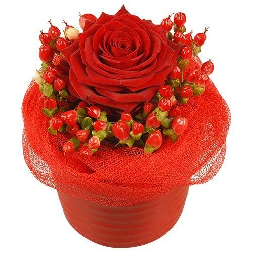 Composition Amour 1 Rose Rouge Je T Aime Florajet
