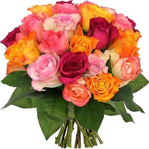 Bouquet De Roses Roses Multicolores Livraison En Belgique Florajet