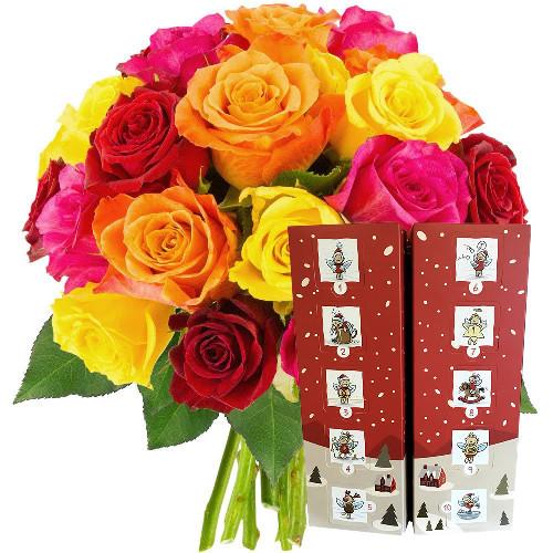 Cadeaux Gourmands 20 ROSES + CALENDRIER DE L'AVENT