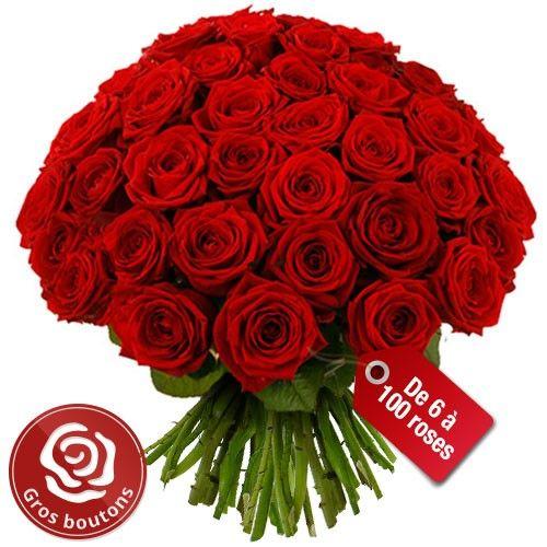 Bouquet de roses GRANDES ROSES ROUGES