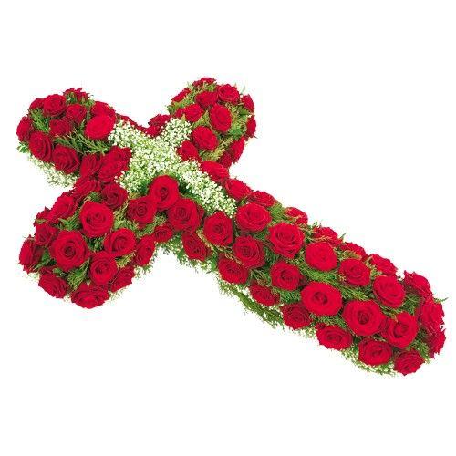 Croix CROIX DE ROSES ROUGES