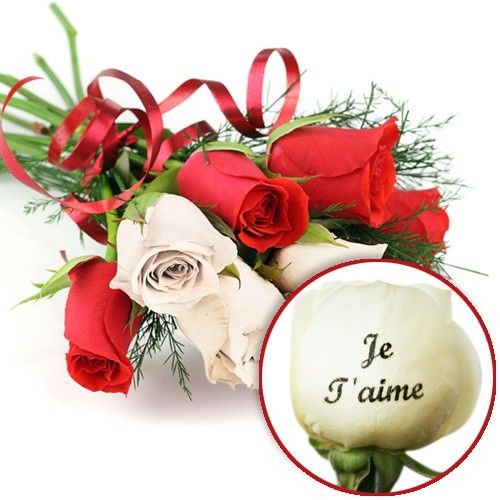 Bouquet De Roses Roses Marquees Je T Aime Livraison Express