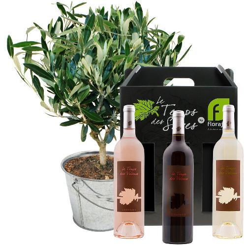 Cadeaux Gourmands OLIVIER + COFFRET 3 VINS