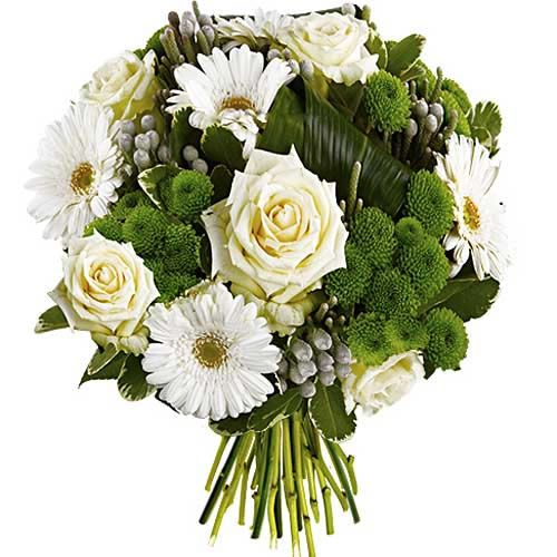 Bouquet rond NEIGE