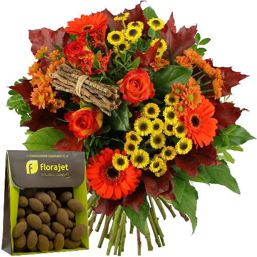 Bouquet rond ECLAT D'AUTOMNE + AMANDES